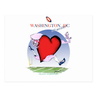 Washington DC head heart, tony fernandes Postcard