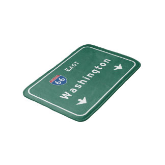 Washington dc Interstate Highway Freeway Road : Bath Mats