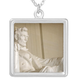 Washington, DC, Lincoln Memorial Square Pendant Necklace
