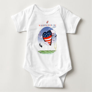 Washington DC loud and proud, tony fernandes Baby Bodysuit