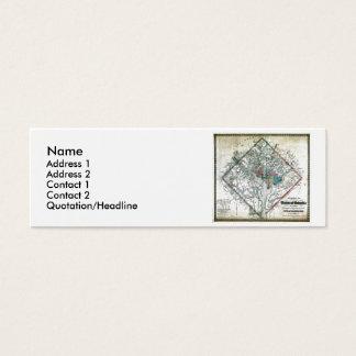 Washington DC  Map and Flag Mini Business Card