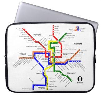 Washington DC Metro Map Laptop Sleeve