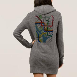 Washington DC Metro Subway Map Hoodie Dress