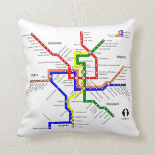 Dc Subway Map Pillow.Metro Map Gifts On Zazzle Au