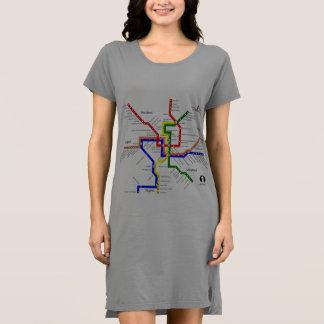 Washington DC Metro Subway Map Shirt Dress