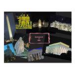 Washington DC Monuments at Night Postcard