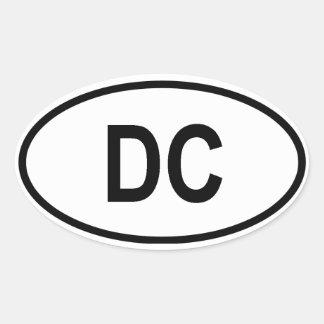 "Washington ""DC"" Oval Sticker"