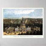 Washington, DC Panoramic Map - 1871 Posters