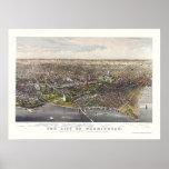 Washington, DC Panoramic Map - 1880 Print