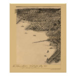 Washington, DC Panoramic Map - 1883 Print