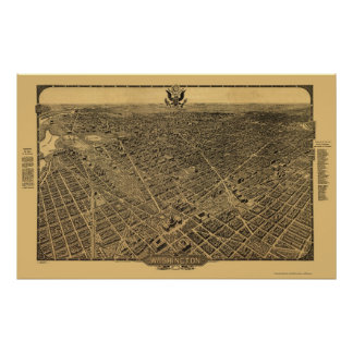 Washington, DC Panoramic Map - 1922 Poster