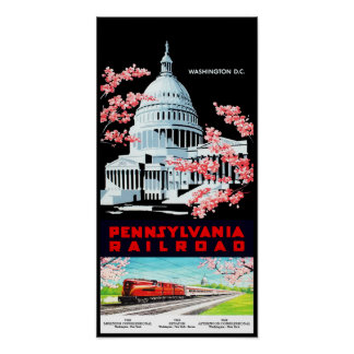 Washington DC Retro Travel Poster