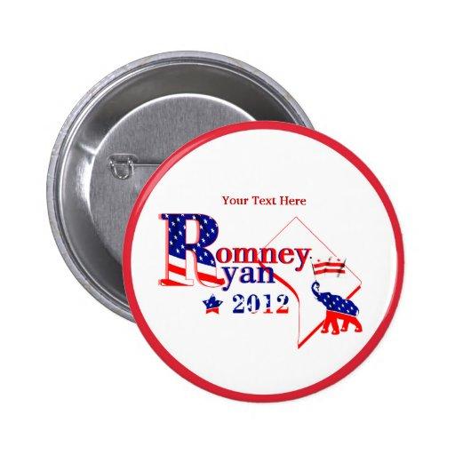 Washington DC Romney Ryan 2012 Button Customize