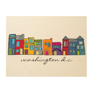 Washington DC Row House Wall Art