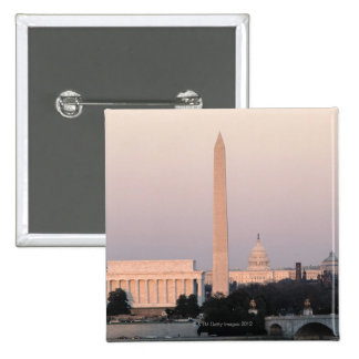 Washington, DC Skyline 15 Cm Square Badge