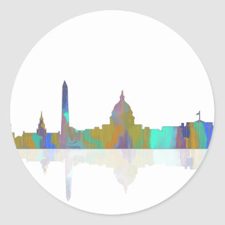 Washington, DC Skyline Classic Round Sticker