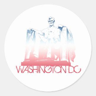 Washington DC Skyline Design Classic Round Sticker