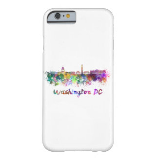 Washington DC skyline in watercolor Barely There iPhone 6 Case