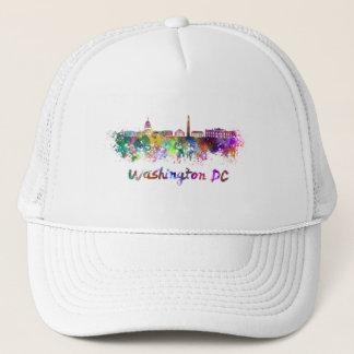 Washington DC skyline in watercolor Trucker Hat