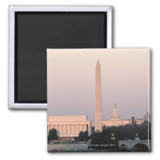 Washington, DC Skyline Square Magnet