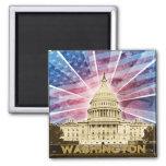 Washington DC Square Magnet