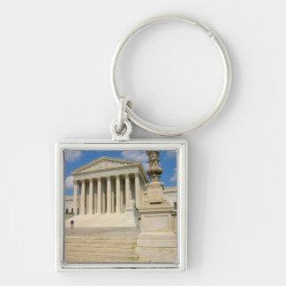 Washington, DC, Supreme Court Building Silver-Colored Square Key Ring