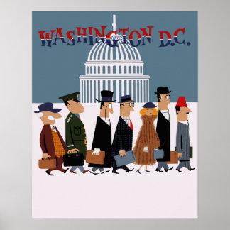 Washington DC travel poster