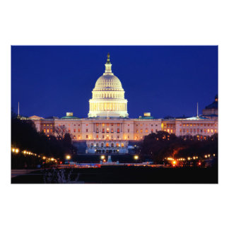 Washington DC United States Capitol at Dusk Photo Print