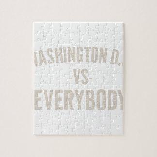 Washington DC Vs Everybody Jigsaw Puzzle