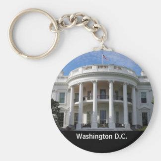 Washington DC White House Basic Round Button Key Ring