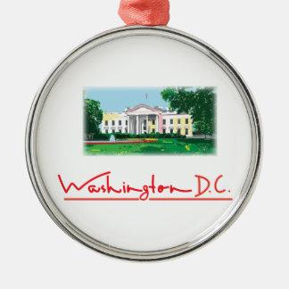 Washington DC - White House Metal Ornament