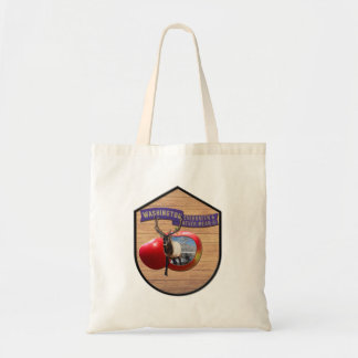 Washington - Elk/Apple Evergreen & Never Mean Tote Bag