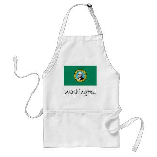 Washington Flag And Name Standard Apron