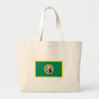 Washington Flag Large Tote Bag