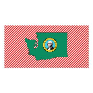 Washington Flag Map Custom Photo Card