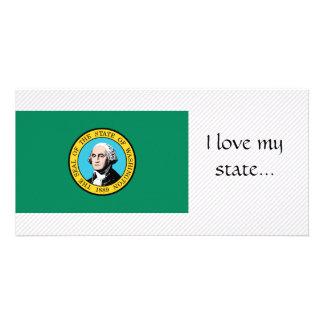 Washington Flag Customized Photo Card