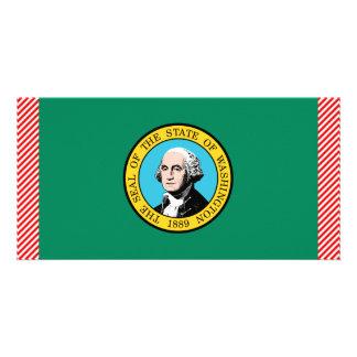 Washington Flag Personalized Photo Card