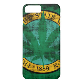 Washington Flag Pot Leaf Grunge iPhone 7 Plus Case
