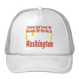 Washington - God Loves Me Cap