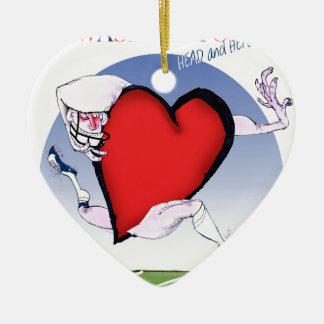 Washington head heart, tony fernandes ceramic ornament