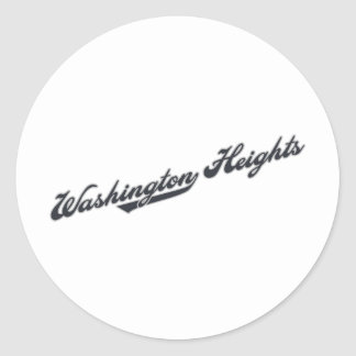 Washington Heights Classic Round Sticker