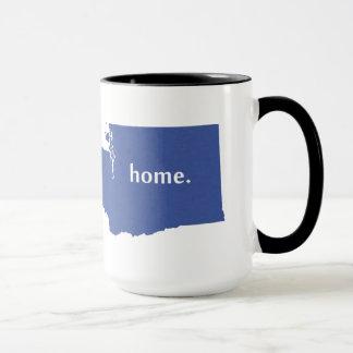 Washington home silhouette state map mug