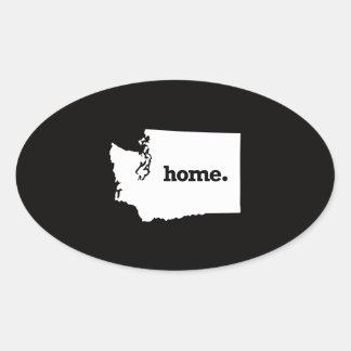 Washington Home Oval Sticker