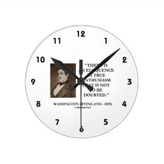 Washington Irving Eloquence In True Enthusiasm Wall Clock