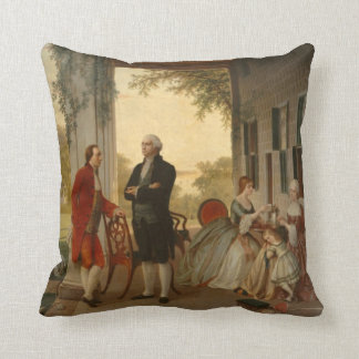 Washington & Lafayette at Mt. Vernon Pillow