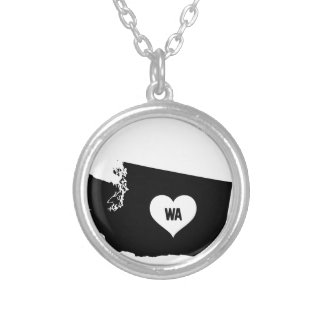 Washington Love Silver Plated Necklace