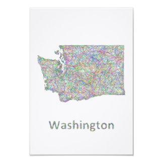 Washington map card