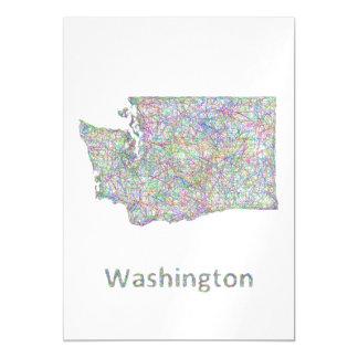 Washington map magnetic invitations