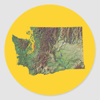 Washington Map Sticker