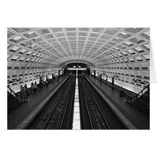 Washington Metro Station Looking at the Rails Card